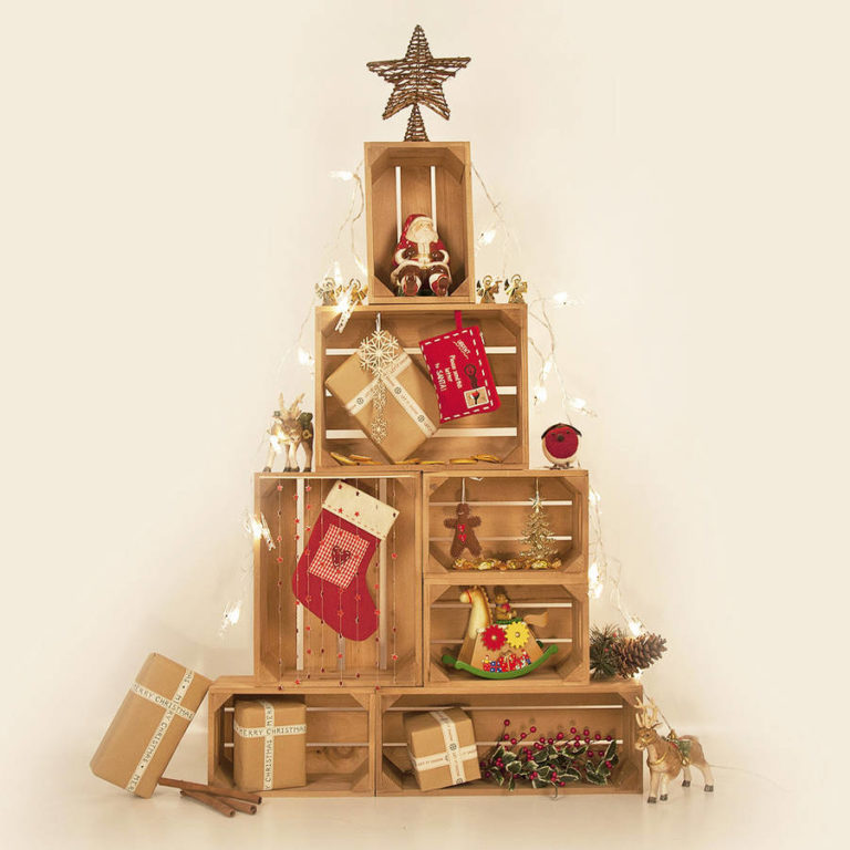 Χριστουγεννιάτικο δέντρο από καφάσια.