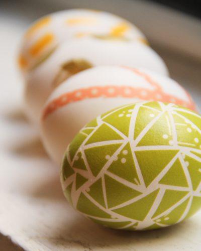 Αυγά και Washi tape